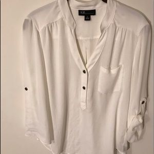 AGB women's 3/4 sleeve semi sheer blouse A17